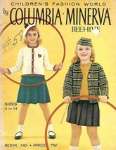 Columbia Minerva Children's Fashions Bk 740 in Sizes 4 - 14 1960s Beehive - $6.92