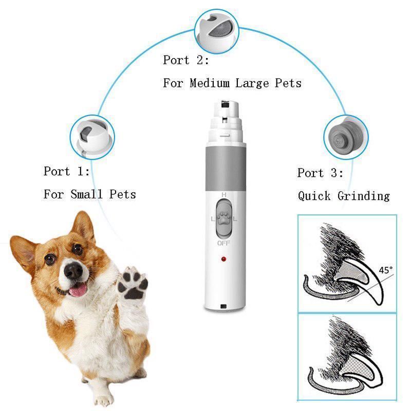 Primary image for Electric Nail Grinder Usb Charge Clippers Grooming Pet Tools New For Dog And Cat