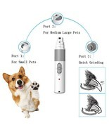 Electric Nail Grinder Usb Charge Clippers Grooming Pet Tools New For Dog... - €32,98 EUR
