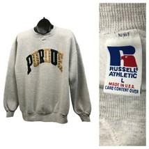 1990s Purdue Sweatshirt / 90s V Stitch Russell Cotton Sweatshirt USA / L... - $69.00