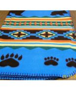 Soft Fleece Blanket, Bear Blanket, Aztec Blanket, Child, Teen, Baby - $20.00