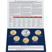 2013 W US Mint Set Unc Silver Dollar & Native American Golden + 4 Presidents XA5