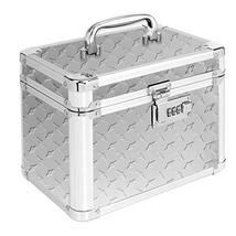 Vaultz Locking Garage Box, 10 x 7.75 x 7.25 Inches, Silver Treadplate VZ... - $32.17