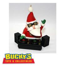 DJ S.C. 2011 Hallmark Magic Light & Sound Ornament Santa Claus Plays Music LP - $43.55