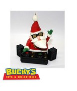 DJ S.C. 2011 Hallmark Magic Light & Sound Ornament Santa Claus Plays Mus... - $43.55