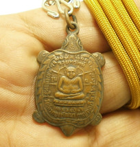 LP LEW BLESSED 1991 TURTLE REAL AMULET PENDANT MAGIC THAI LUCKY LIFE PRO... - $29.99