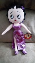 2016 BETTY BOOP VALENTINE'S DAY PURPLE DRESS Brand New Licensed Plush NW... - $11.99