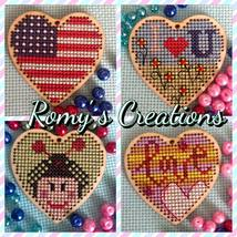 Heart Wooden Stitchable Kit cross stitch kit Romy's Creations  - $14.00