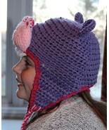 Children's crochet hippo hat by Bliss - $22.00