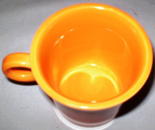 HLC Fiesta Ring Handle Mug Persimmon Retired