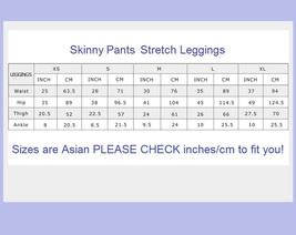Spliced Brown or Black Lycra Elastic Waist Skinny Stretch Pants Leggings image 5