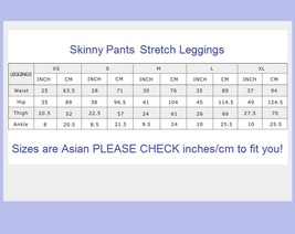 Spliced Brown or Black Faux Pleather Elastic Waist Skinny Stretch Pants Leggings image 5