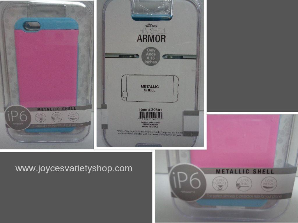 Ip6 metallic case pink   blue collage