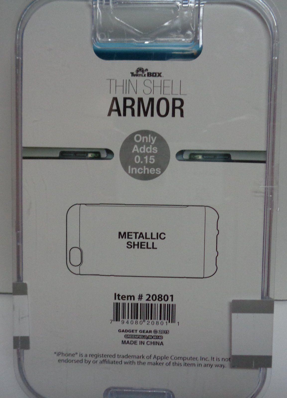IPhone 6 Cell Phone Case Metallic Shell NIB Pink & Blue