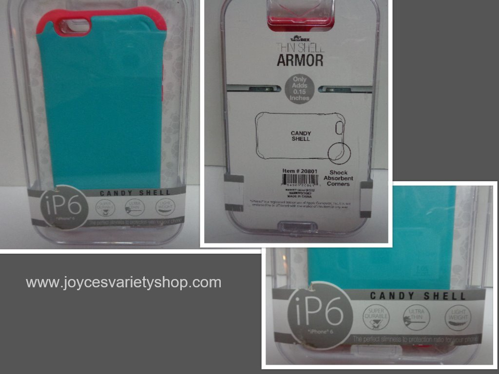 Ip6 candy shell blue   red case collage