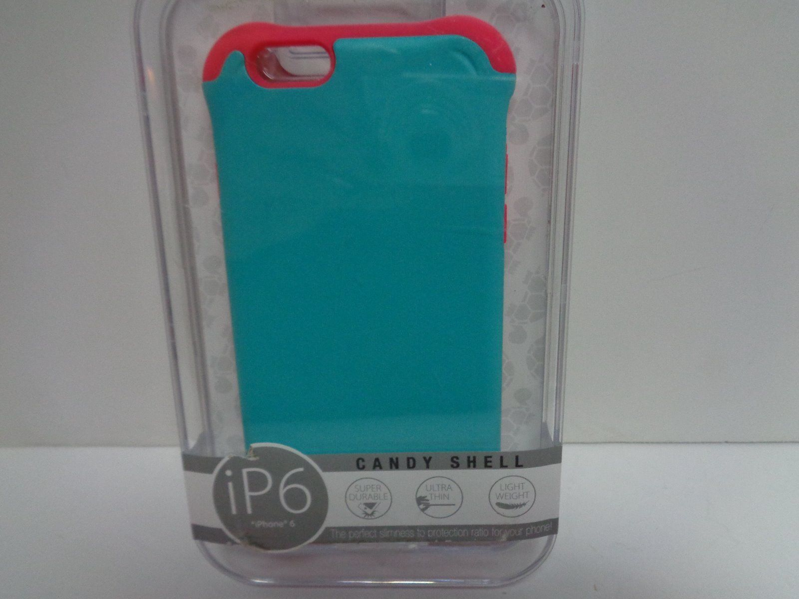 IPhone 6 Cell Phone Case Candy Shell NIB Blue & Red