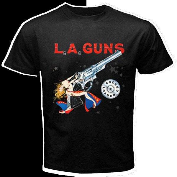 L a la guns rock band custom black t shirt s m l xl xxl for Xxl band t shirts