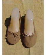 FADED GLORY Ballerina Slippers,USA Size 9;Bronze Color;Nicole Style;#252... - $9.99