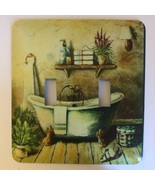 Bath Room metal light switch cover Double Toggle - $10.50