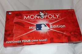 Monopoly MLB Baseball Edition Board Game Factory Sealed Parts Missing 2 ... - $21.49