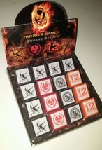 The Hunger Games Movie - 16 Square Stamps Hunger Games District 12 Mocki... - $43.56