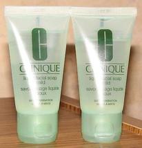 Two Clinique Liquid Facial Soap Mild 2 x 1 oz/ ... - $5.93