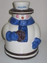 Houston Harvest Nabisco Oreo Snowman Cookie Jar 2000 - $28.99