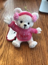 Christmas Ornament Tree Decoration Cute Pink Bear 2017 Ships N 24h - $7.90