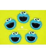 4 pcs Elmo Kawaii DIY Flatback Resins, Cabochons, Bow Centers - $4.00