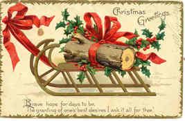 Christmas Greetings EllenClapsaddle 1907 Vintage Post Card - $6.00