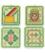 St. Patrick's Day 7 cent Holiday Stamps cross stitch chart Handblessings - $5.00