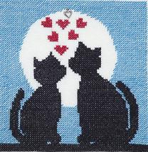 Sweetheart Kitties with Charm cross stitch chart Handblessings - $6.00