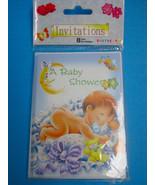Your Invited A Baby Shower Invitations 8 Cards & Envelopes Stars Moon De... - $6.95