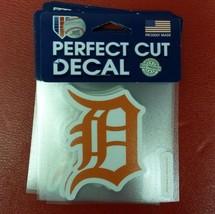 "MLB Detroit Tigers Orange Perfect Cut Color Decal 4"" x 4"" - $9.79"