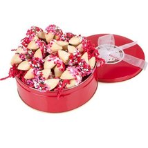 Heart Sprinkles Gourmet Fortune Cookies-tin of 24 [Misc.] - $51.93