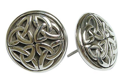 Silver Celtic Knot Stud Earrings [Jewelry]