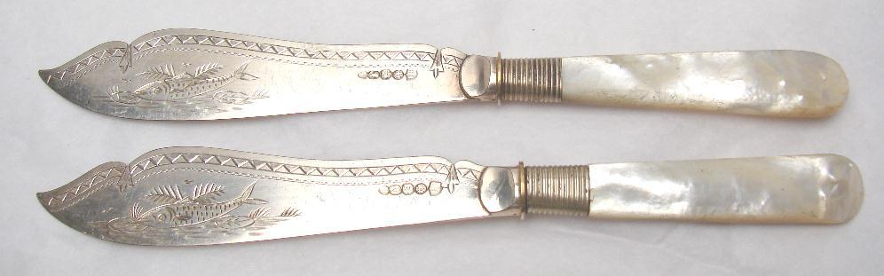 ANTIQUE FISH KNIVES