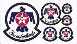 United Staes Air Force Thunderbirds Sheet Of 5 Stickers/Decals  - $14.95