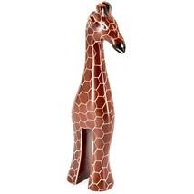"Crafts Caravan Hand Carved Soapstone Stately Giraffe 6.25"" Figurine Sculpture"