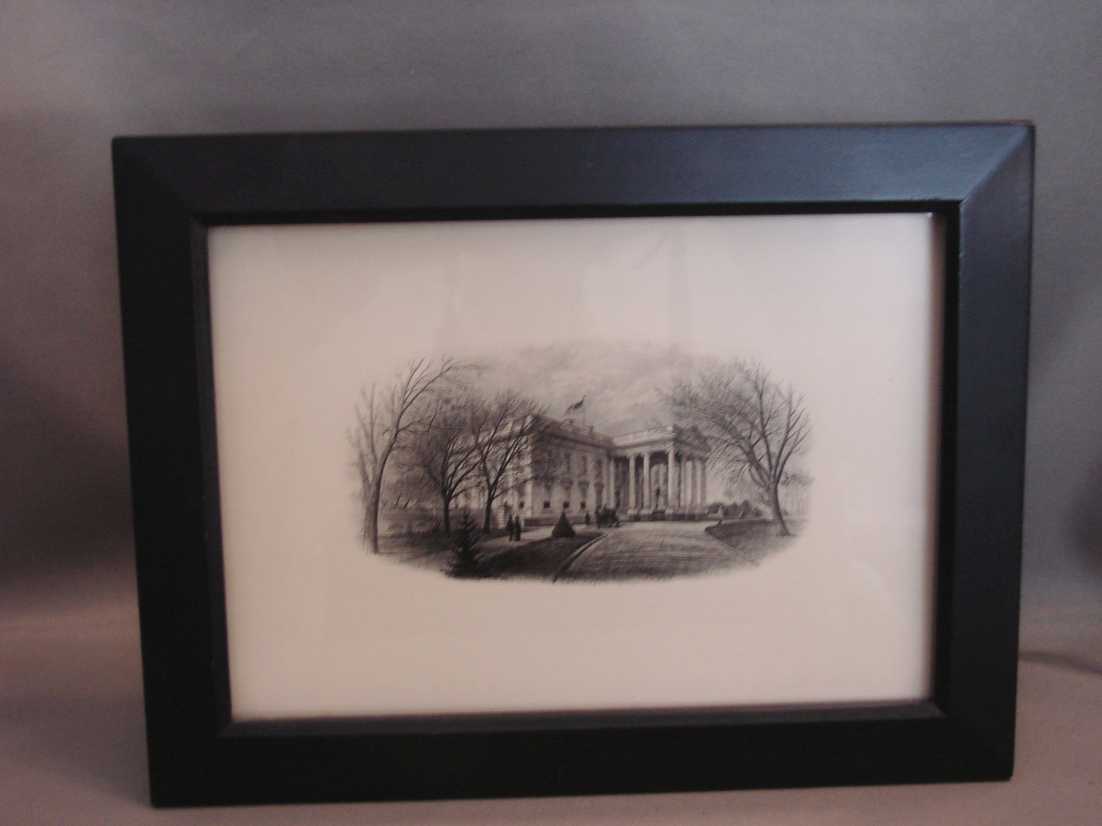 Vintage White House Steel Plate Engraving Card Bureau of Engraving 5 x 7