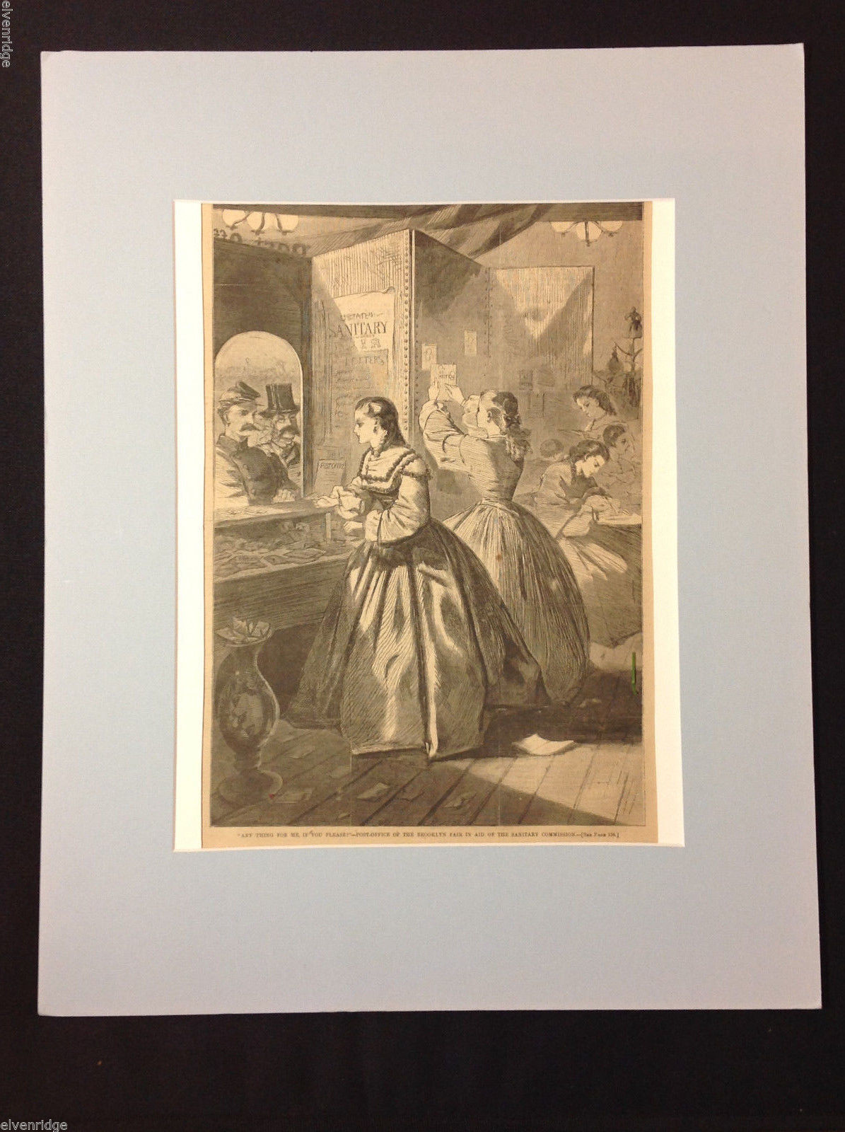 Harper's Weekly March 5th, 1864 Pg. #156 Framed Civil War Era Newspaper Print