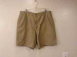 Herringbone Naturals Khaki Green Shorts Size 40 US 10 Womens Ladies Cotton Linen