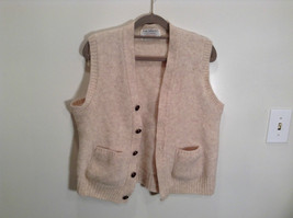The Moors 100 Percent Shetland Wool Lord Jeff Beige Vest with Pockets - $35.63