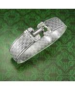 Goldette  Bracelet Stunning silver buckle design Brilliant diamond cut s... - $95.00