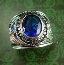 Truck Ring Silver Wildcat professional driver Truckers turquoise transpo... - $75.00