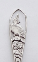 Collector Souvenir Spoon USA Ohio Cardinal Embossed Cut Out Handle - $4.99