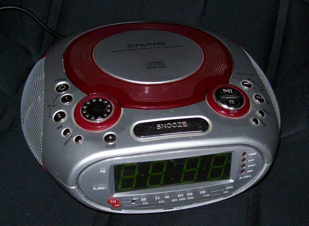 Craig Dual Alarm AM\FM Clock Radio With CD Player CR41475R ...