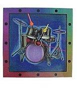Drumset Wall Clock - Rainbow - $32.95