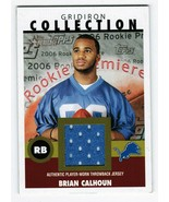 Brian Calhoun 2006 Topps Heritage Gridiron Collection Jersey Card GC-BC ... - $3.00