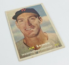 Vintage 1957 Topps #57 JIM LEMON Senators Card - $1.74